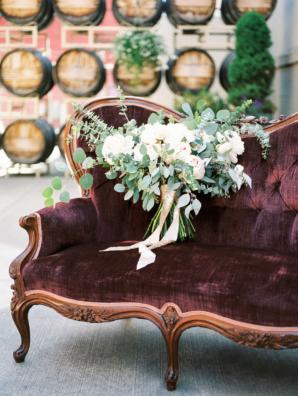 Burgundy and Green Wedding Lounge