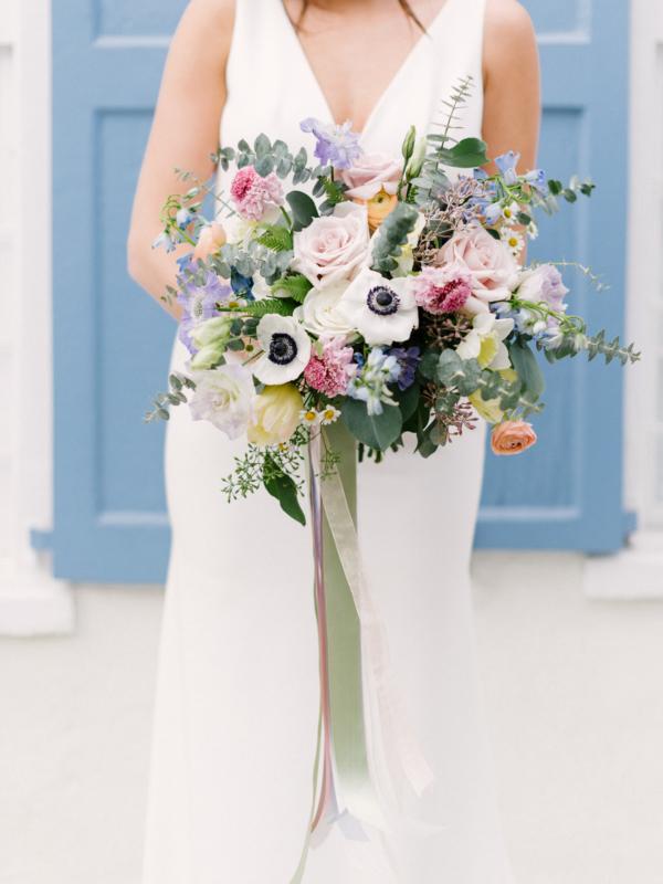 Colorful Pastel Bride Bouquet