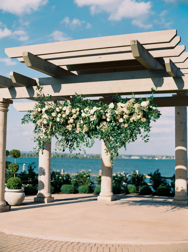 Dramatic Hanging Ceremony Flowers