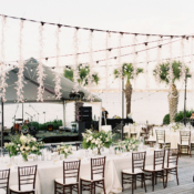 Elegant Waterside Outdoor Wedding Reception