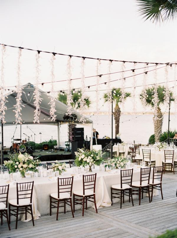 Elegant Waterside Outdoor Wedding Reception