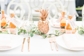 Gold and Green Outdoor Wedding