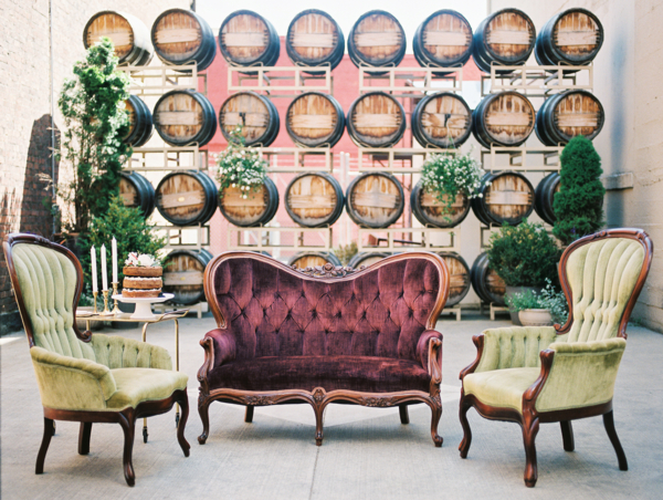 Green and Burgundy Wedding Lounge