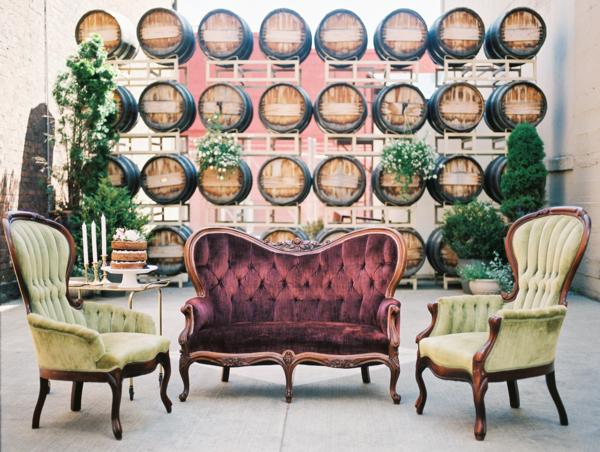 Green and Burgundy Wedding Lounge