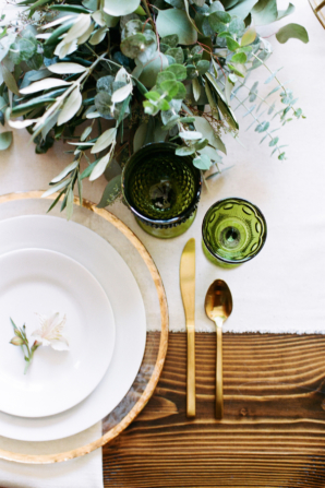 Green and Gold Industrial Wedding Ideas