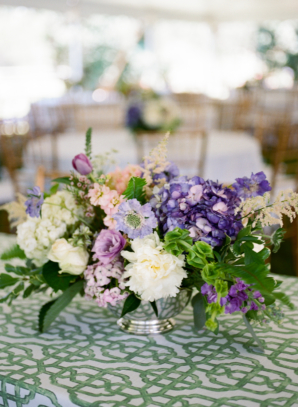 Green and Purple Wedding Reception