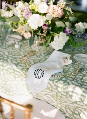 Monogrammed Wedding Napkin