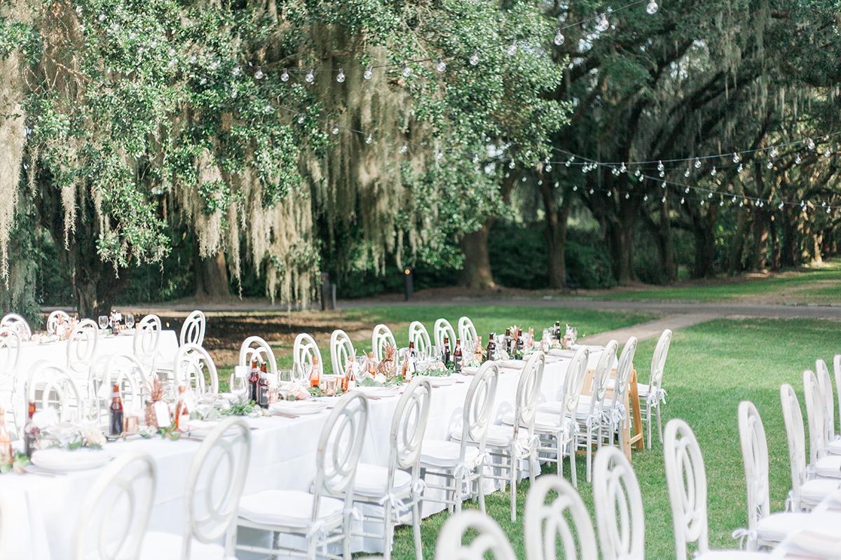 Outdoor Wedding Reception In Charleston Elizabeth Anne Designs