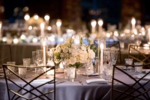 Pale Purple and White Wedding Centerpiece