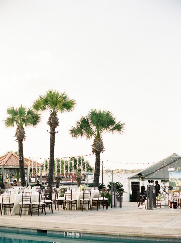 Poolside Wedding Reception in Austin