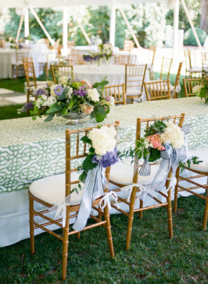 Purple and Green Wedding Tent