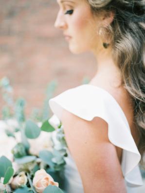 Ruffled Bridal Gown