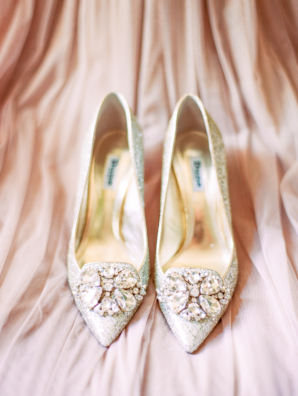 Silver and Crystal Bridal Shoes