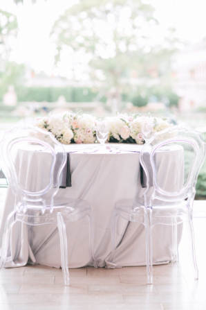 Sweetheart Table with Acrylic Chairs