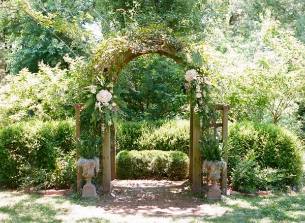 Wedding Arbor under Trees