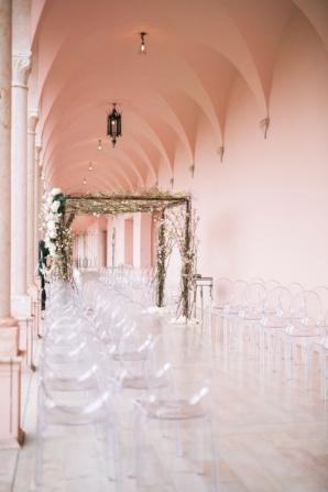 Wedding Chuppah in Museum Courtyard