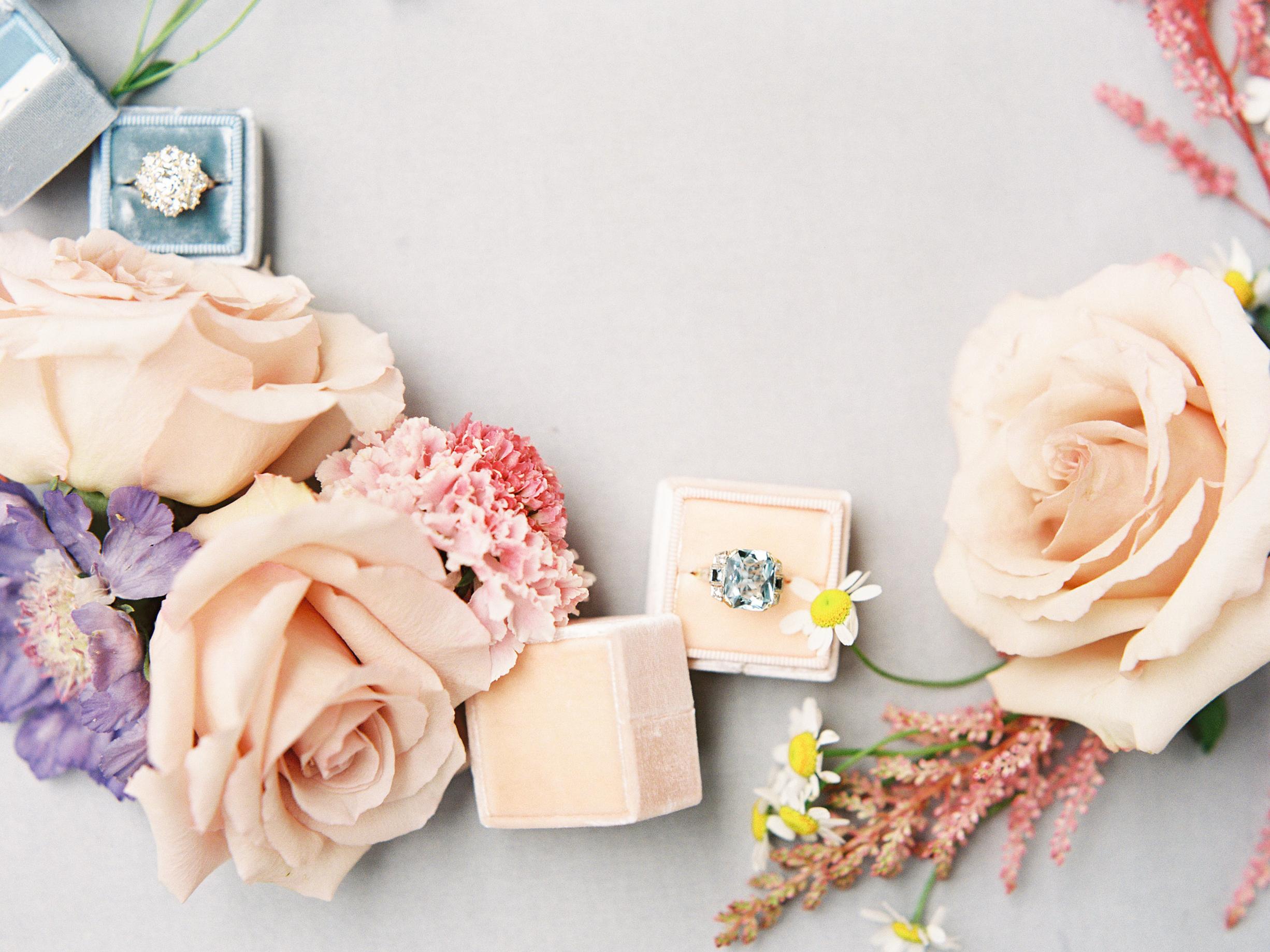 Wedding Flowers and Wedding Rings