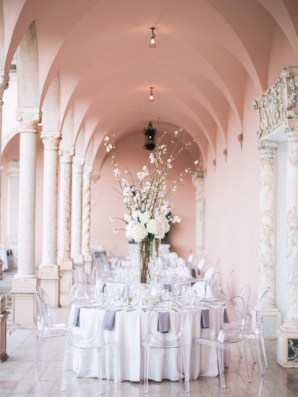 Wedding Tables in Museum Portico