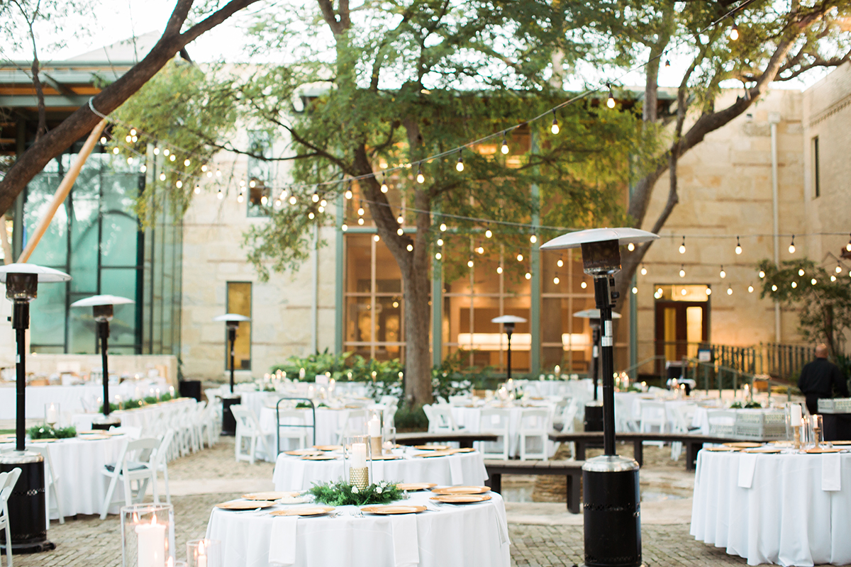 Wedding in Museum Courtyard