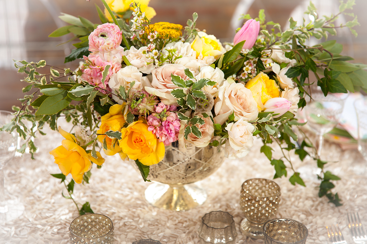 Yellow And Pink Wedding Flowers Elizabeth Anne Designs The