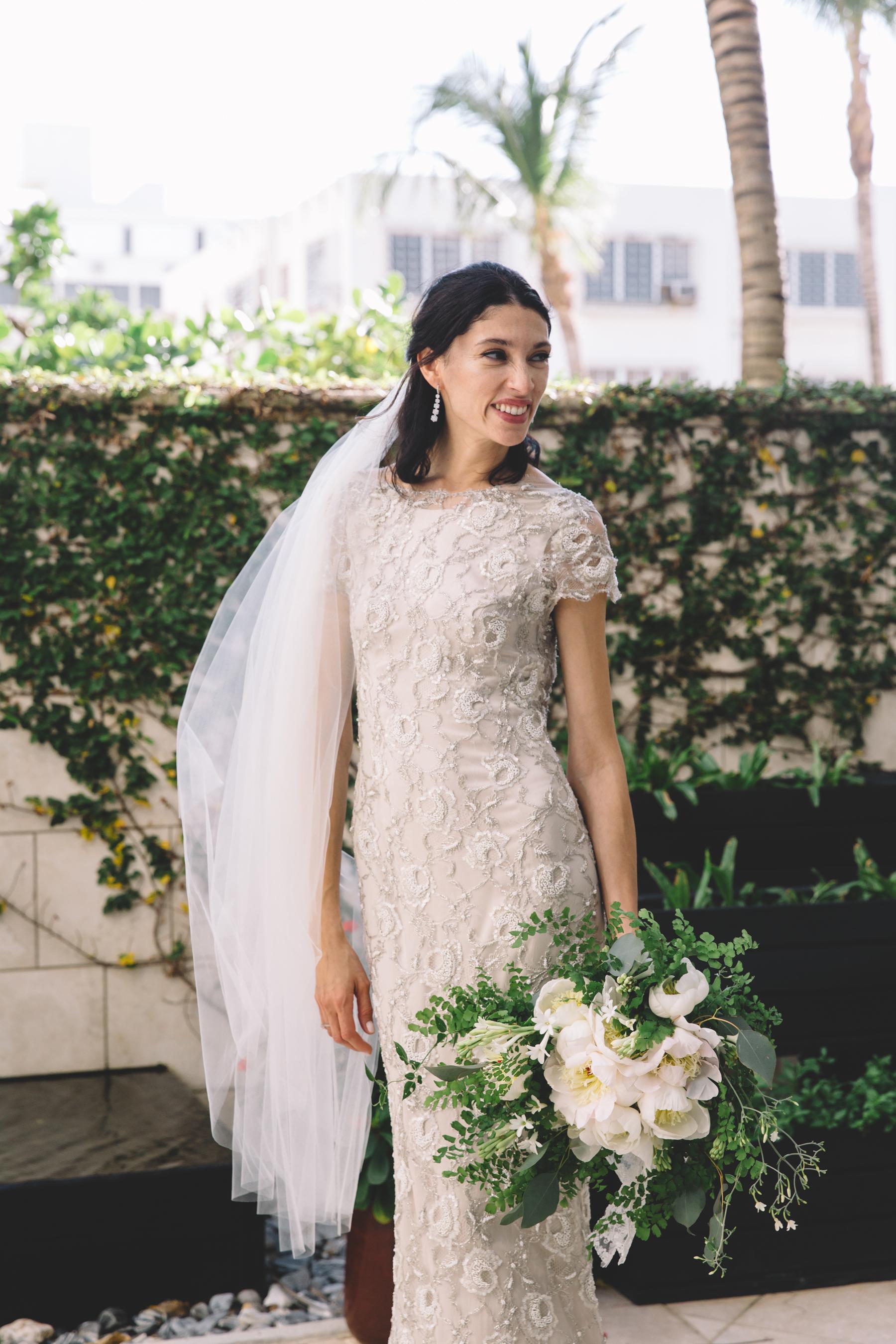Beaded Sheath Wedding Gown