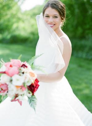 Bride with Fingertip Veil