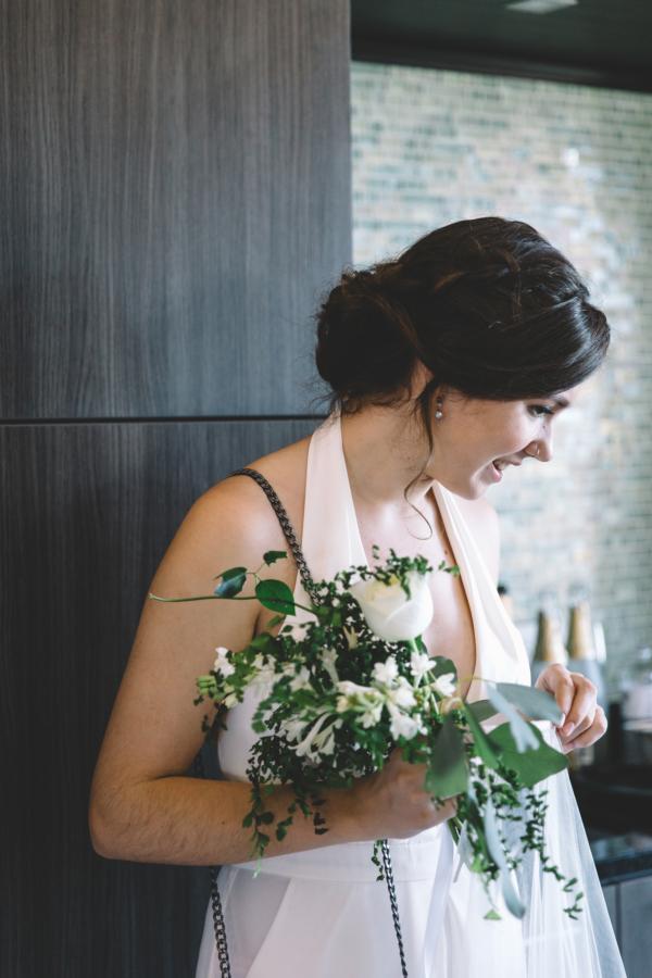 Bridesmaid in White Dress