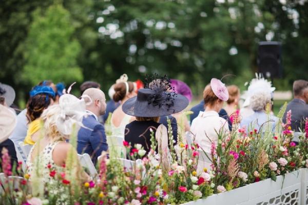 Fascinators at British Wedding