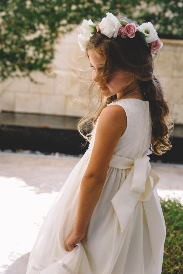 Flower Girl in Dress with Sash