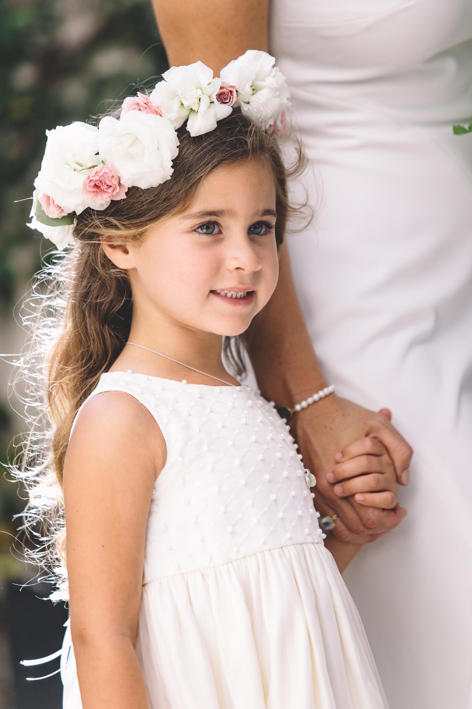 Flower Girl With Flower Crown Elizabeth Anne Designs The Wedding Blog