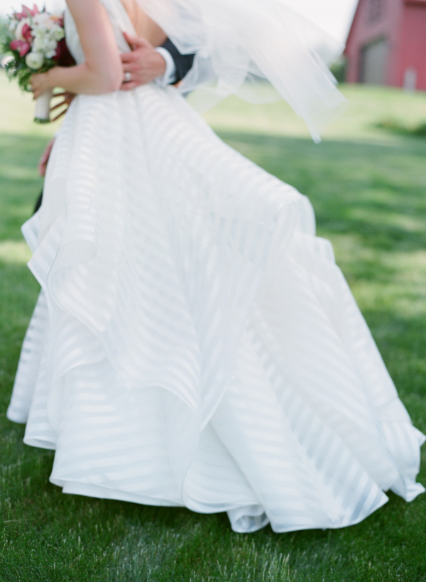 Hayley Paige Striped Wedding Dress