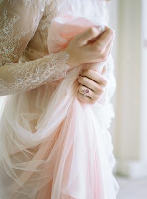 Pink Tulle Wedding Dress