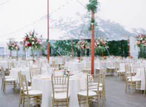 Tent Reception Gold and Coral