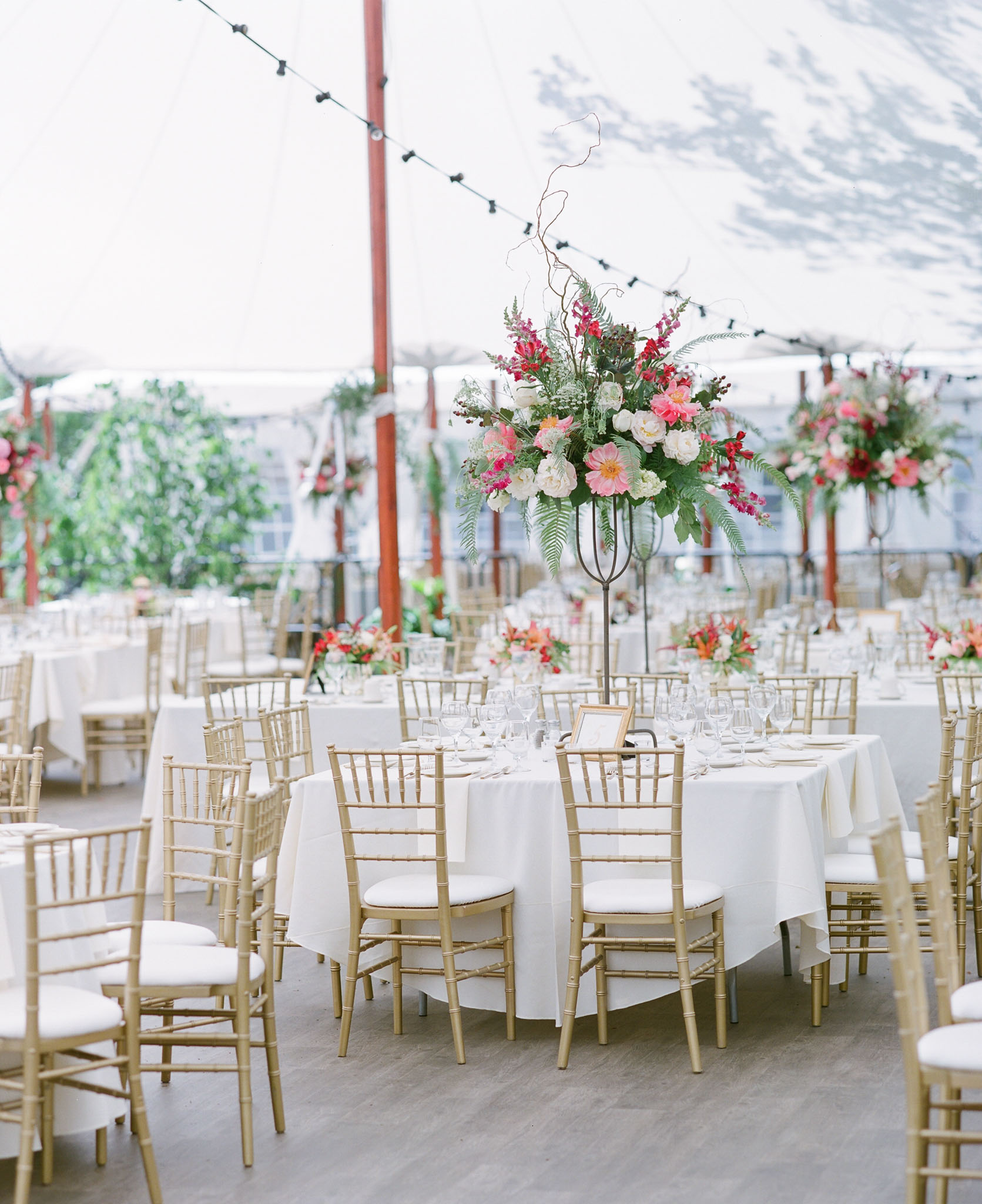 Tent Reception in Pink and Gold