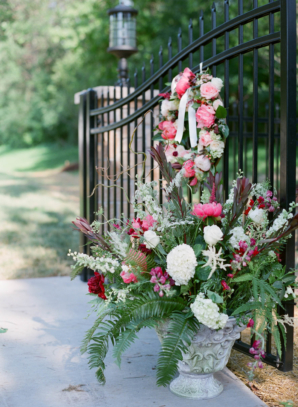 Wedding Ceremony Flowers in Urn