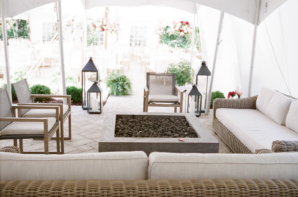 Wedding Lounge Area with Fire Pit
