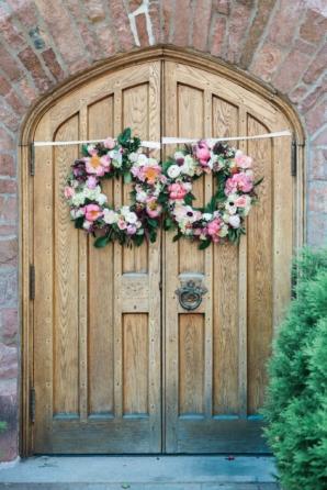 Wreaths on Ceremony Doors