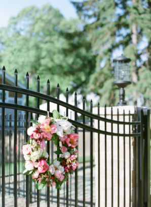 Wreaths on Gate to Wedding