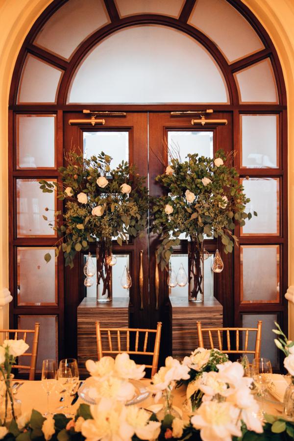 Wreaths on Hotel Entry Door