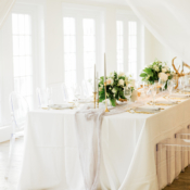 All White and Ivory Wedding Reception