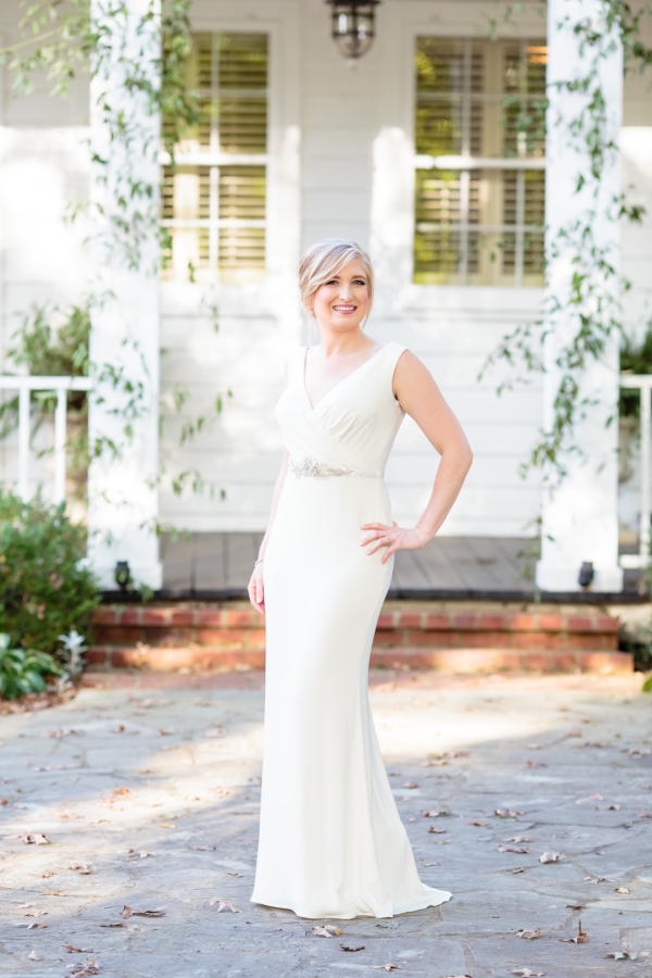 Bride in BHLDN Dress