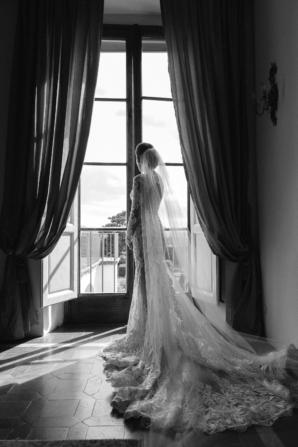 Bride in Berta Gown