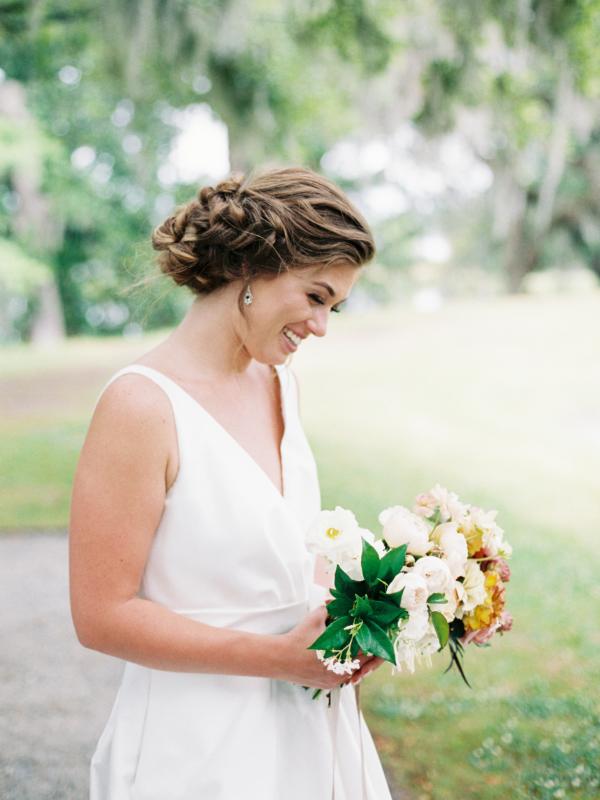 Bride in Carolina Herrera