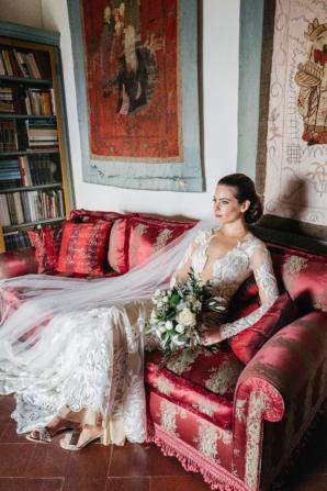 Bride in Italian Villa