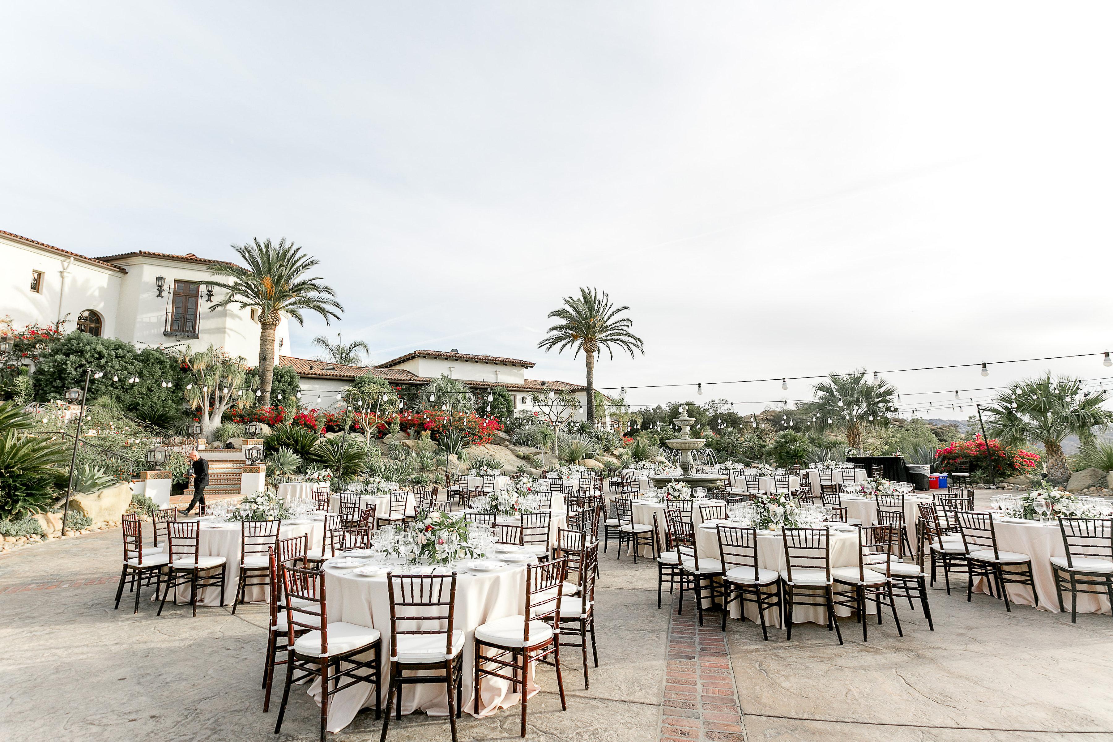 Elegant Outdoor Reception at California Villa