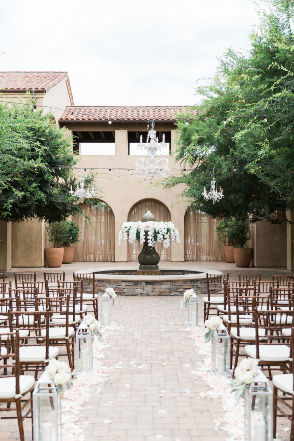 Elegant Outdoor Wedding Ceremony with Orchids