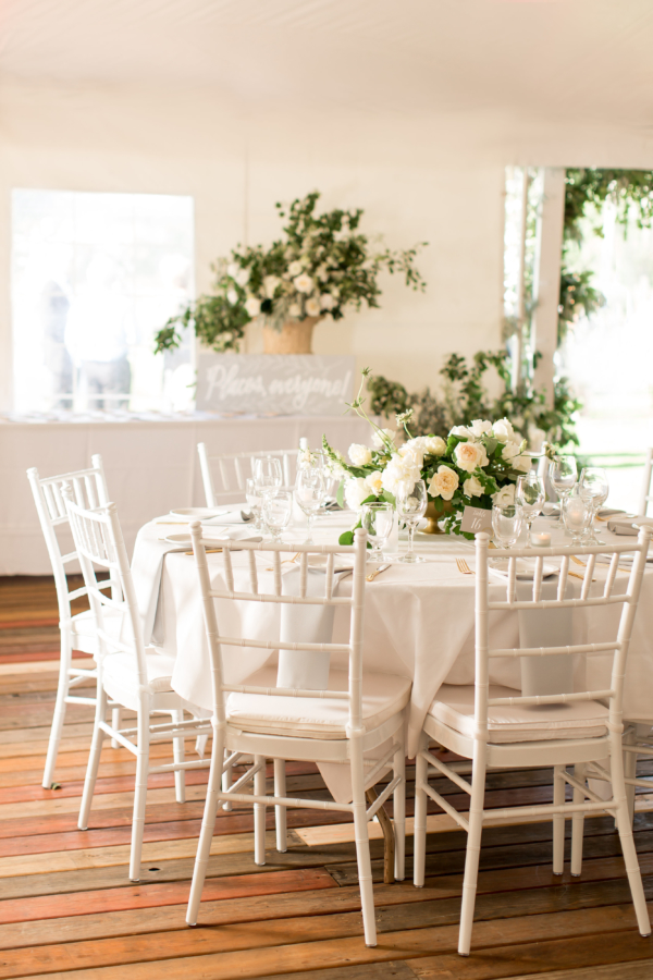 Elegant White and Gray Tent Wedding