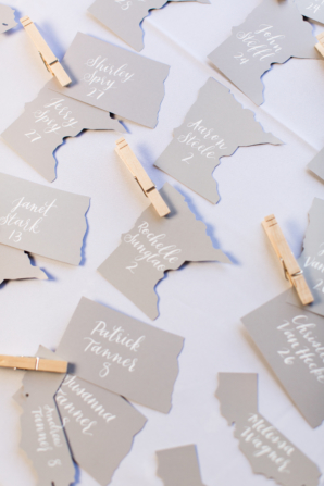 Escort Cards in Shape of US States