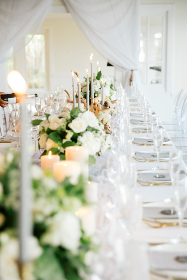 Long Estate Table at Wedding
