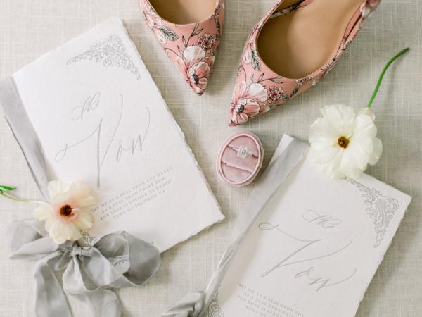Mauve and Gray Wedding Details